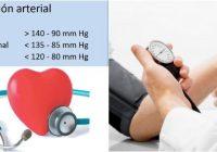 cual es la presión arterial normal en bebes