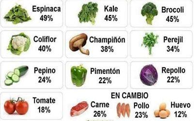Verduras Que Contienen Proteinas