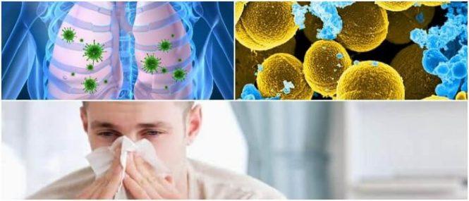 infección pulmonar