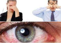 condición oftalmológica de cansancio en los ojos