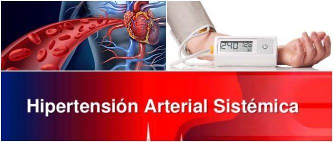 es la presión alta en las arterias sistémicas