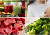 alimentos cicatrizantes de heridas externas