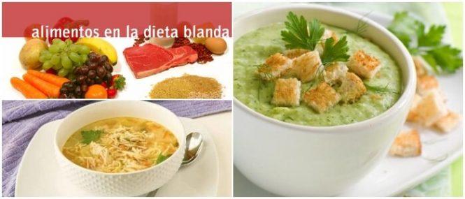 dieta blanda en el almuerzo
