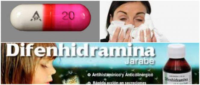 nombre comercial de la difenhidramina