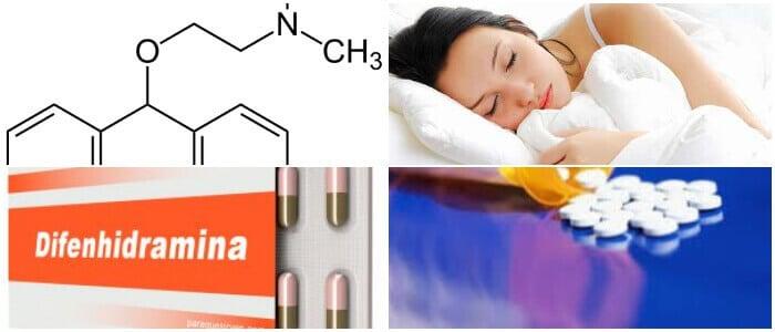 difenidramina en ampollas