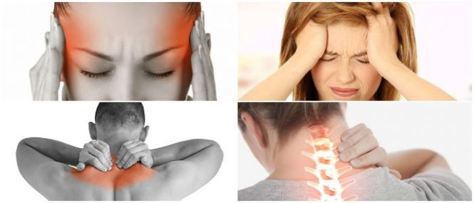 dolor de cuello y cabeza atrás