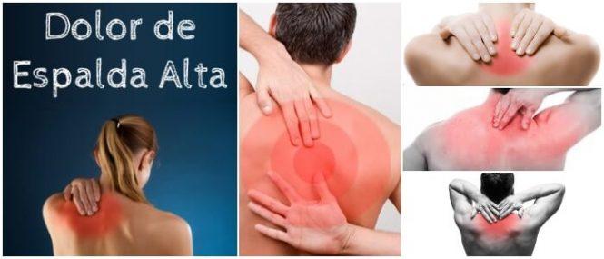 dolor en la parte de la espalda alta