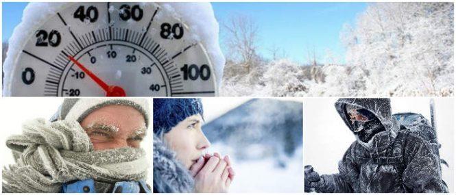la hipotermia por temperaturas heladas en invierno