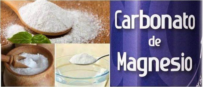 cual es la fórmula del carbonato de magnesio
