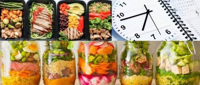 variedad y nutricion en la preparación de comidas anticipadamente